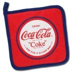 Red White and Navy Coca-Cola Pot Holder