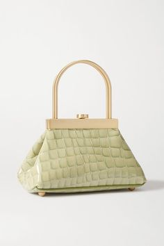 Seafoam croc-effect leather (Cow) Push-clasp fastening at top Designer color: Surf Comes with a dust bag Weighs approximately Personal Shopping, Gaia, Mini Bag, Victoria Beckham, Crocs, Louis Vuitton Damier, Shopping Bag, Vintage Fashion, Purses