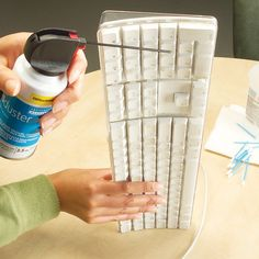 Clean a dirty computer screen and keyboard without harming the computer by using a lint-free cloth, compressed air and a cotton swab dipped in alcohol.