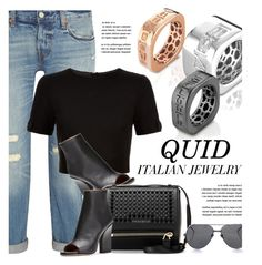 """""""QUIDLINE.com"""" by monmondefou ❤ liked on Polyvore featuring Levi's, Ted Baker, Givenchy, Linda Farrow and quidline"""