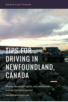 Driving is a must if you're visiting Newfoundland since so many beautiful spots are scattered all over the island. Here are some tips for driving in Newfoundland. Stay safe and enjoy the view! Newfoundland Canada, Newfoundland And Labrador, East Coast Canada, Gros Morne, Canada Destinations, Nature Sauvage, East Coast Road Trip, Visit Canada, Amigurumi