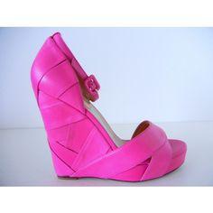 Pretty pink Valentino wedges
