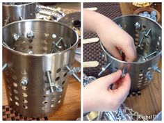 "Fine motor development with nuts & bolts - from Rachel ("",)"