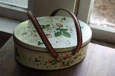 Hey, I found this really awesome Etsy listing at https://www.etsy.com/listing/155624632/shabby-strawberry-picnic-tin-with