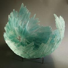 Crystal Gobe by Fred Mead of Forest City, NC. 2015 NICHE Awards Finalist. Category: Glass- Cast, Slumped or Fused #glass, #artglass