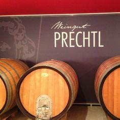 Taste wine at the showroom of Weingut Prechtl in Lower Austria. #feelaustria