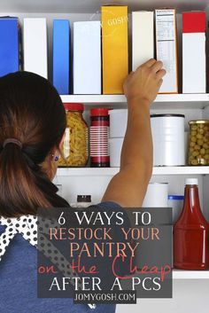 Ways to save money, groceries after PCSing, moving #milspouse