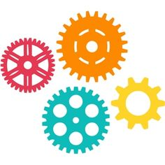 Gears from the Silhouette Design Store Silhouette Cameo Projects, Silhouette Design, Clipart, Gadgets And Gizmos Vbs, Maker Fun Factory Vbs, Transformers Birthday Parties, 3d Templates, Robot Theme, Transformer Birthday