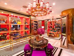 Sometimes I wish I lived the the Tory Burch store! Love the Decor!