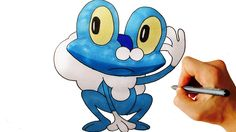 How to draw Froakie from Pokemon X Y 6 Gen easy step by step drawing