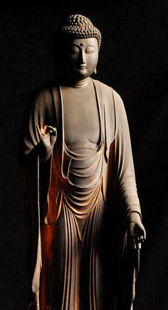 """I am submerged in eternal light. It permeates every particle of my being. I am living in that light."" —Paramahansa Yogananda (Amida Nyorai Buddha Japanese Wooden Sculpture Edo 17 c.) ..*"