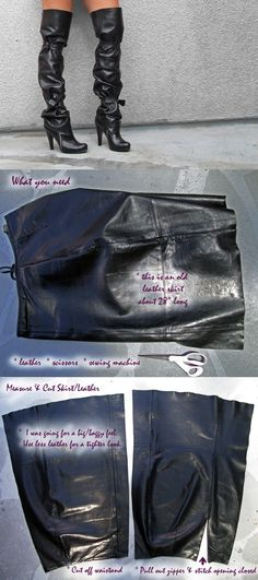 2.-How-to-Make-Over-the-Knee-Leather-Boots-DIY
