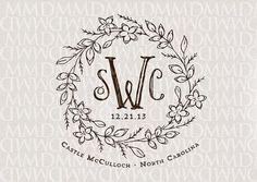 Classic Custom Wedding Monogram by Merrymint Designs | Hatch.co