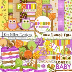 Hoo Loves Fall Page Kit