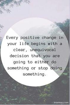 Positive change.