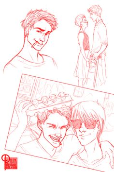 @Esmeralda Arellano paln-k: The Fault in Our Stars. Red sketches... - Dear Harry,