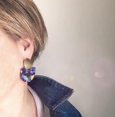Femmes Fille Émail Fleur Cluster Stud Drop Dangle Boucles d/'oreilles Pour Mariage Bijoux