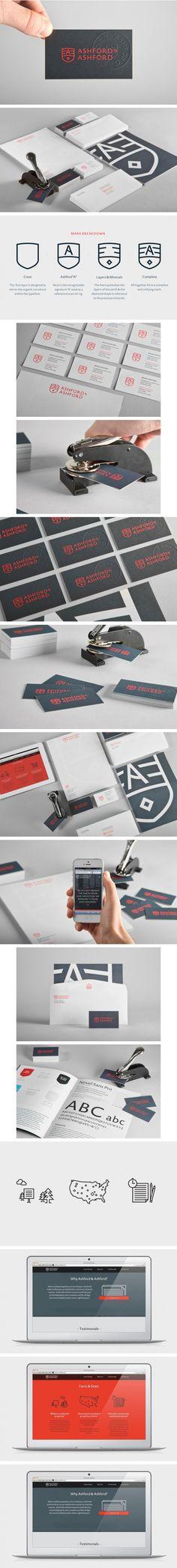Ashford & Ashford identity | #stationary #corporate #design #corporatedesign #identity #branding #marketing < repinned by www.BlickeDeeler.de | Take a look at www.LogoGestaltung-Hamburg.de