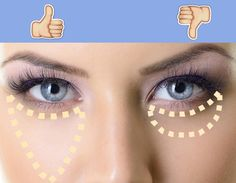 Apply under eye concealer in a triangle shape instead of a crescent shape. | 15 Concealer Tricks To Make Your Life Easier