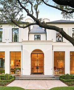 Some stunning white shutters and big beautiful windows to brighten up your Tuesday! // architecture by // interiors by // landscape design by // built by // by Beautiful Home Designs, Beautiful Homes, White Shutters, Dream House Exterior, Exterior Design Of House, Exterior Homes, Classic House, French Style House, French Villa