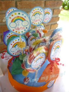 Lollipops at a Rainbow Party #rainbow #party