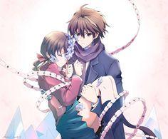 This moment TwT [Guilty Crown] ❤ Anime Guys, Manga Anime, Anime Art, Guilty Crown, The Garden Of Words, Inori Yuzuriha, The Ancient Magus, Cute Couple Art, Sad Art