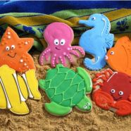 Cookies - Octopus, Seahorse, Turtle, Lobster, Fish Cookies for Brody's BDay Party