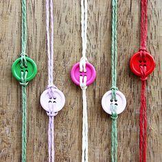 Buttons on hemp string