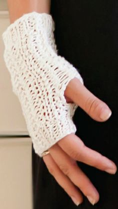 LACY FINGERLESS GLOVES $38.00 Fingerless gloves that make a fashion statement.  Experience the incredible softness of bamboo with this lace knit fingerless gloves. Color 40 Color Choices Fair-Trade yarn from South Africa 100% Bamboo