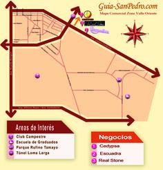Mapa: Zona Valle Oriente Guia-SanPedro.com   otoño 2014