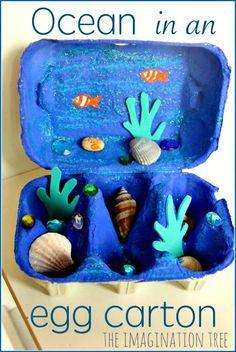 Make Your Own Egg Carton Ocean Craft - 80 DIY Egg Carton Crafts That Make Your Kids Happy - DIY & Crafts