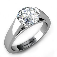 A gem solitaire could be the essential gemstone diamond engagement ring. Although other gemstone diamond engagement ring settings fall and increase in recognition, a solitaire ring can be a classic… Wedding Rings Solitaire, Platinum Engagement Rings, Diamond Solitaire Rings, Solitaire Engagement, Diamond Jewelry, Bridal Rings, Engagement Ring Settings Only, Cushion Cut Engagement Ring, Beautiful Rings