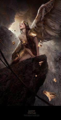 Artist Spotlight: Dark Fantasy Art by Bastien Lecouffe Deharme Dark Fantasy Art, Fantasy Girl, Fantasy Artwork, Fantasy Women, Dark Art, Fantasy Characters, Female Characters, Ange Demon, Art Japonais