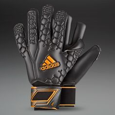 adidas Goalkeeper Gloves - adidas Predator Pro (EX) - Goalie Gloves - Goalkeeping - Black-Solar Zest