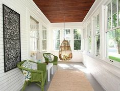 Surf photos of sunroom designs and decoration. Discover ideas for your four periods room addition, including inspiration for sunroom decorating as well as designs. Primitive Homes, Closed In Porch, Enclosed Front Porches, Enclosed Decks, Front Porch Remodel, Porch Makeover, Building A Porch, House With Porch, Porch Decorating