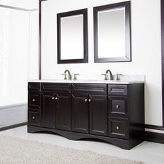 corvus espresso cabinet with 72 inch italian carrera marble double sink vanity by corvus - 72 Inch Bathroom Vanity Double Sink