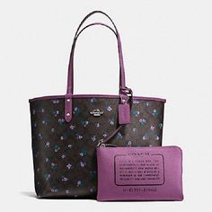 COACH F59460 REVERSIBLE CITY TOTE SIGNATURE C RANCH FLORAL NIP #Coach #Totes