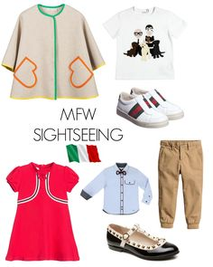 Milan fashion week inspired pieces for the little's. Kids style for sightseeing, bedtime and play days. Italian style and the best places to visit with kids.