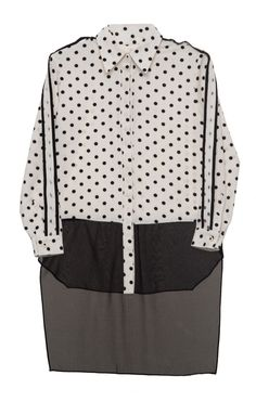 Whitney Eve Polka Dot Boyfriend Shirt