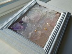 Lovely Lake Champlain Lavender and Depression pink Beach Glass Mosaic