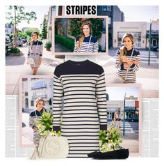 """""""Striped"""" by bklana ❤ liked on Polyvore featuring Topshop, Gucci and stripes"""