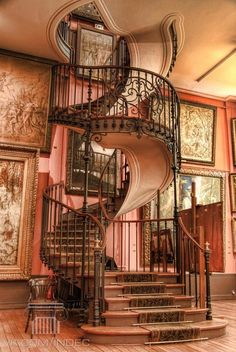 Staircase design and spiral staircase details. Staircase components and design tips. Staircase parts to create a spiral staircase showpiece Stairway To Heaven, Future House, My House, Story House, Architecture Design, Staircase Architecture, Staircase Design, Beautiful Architecture, Stair Design