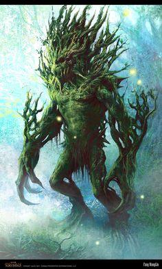 undying Guardian by ~FangWangLlin on deviantART || Earth elemental/Titan