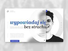 speak freely, web design designed by krolowalama. Connect with them on Dribbble; the global community for designers and creative professionals. Design Web, Simple Web Design, Web Banner Design, Web Design Company, Web Banners, Web Layout, Layout Design, Logos Retro, Vintage Logos
