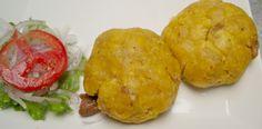 TACACHO C/ CECINA. Ingredientes: 2/3 tz. Aceite, 200 g cecina de la selva, 1 plátano verde, 1 cda. manteca de cerdo, 1/2 cda. chich...
