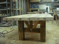Barn Timber Farmhouse Table – The Design Ward Timber Table, Slab Table, Wooden Tables, Door Tables, Wood Benches, Hardwood Table, Farm Tables, Trestle Table, Rustic Table