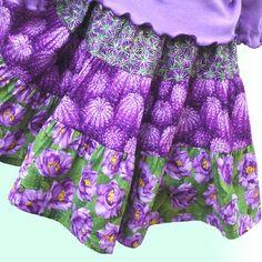 purple fabrics combo