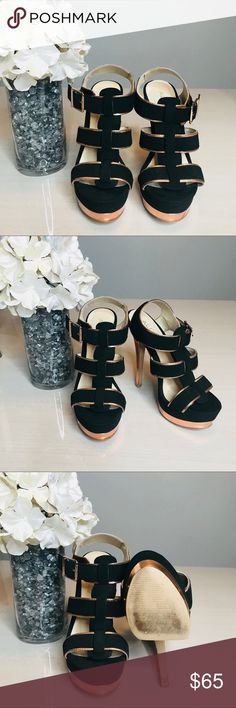 Black and Copper ALDO heels size 6 Black and Copper ALDO heels   size 6  5 1/2 inches in height Aldo Shoes Heels