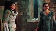 I don't know why, but I like this photo. Snow's shock, Regina's hurt and surprise at being tricked.