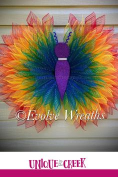 Beautiful DIY butterfly's like this one are simple to make with a Unique in the Creek Wing Board! DIY your very own wreath project like this butterfly and grab your wreath board, plus check out our lives to see how it's all done! Shop now at Unique in the Creek today! Diy Butterfly, Rainbow Butterfly, Frame Wreath, Diy Wreath, Homemade Sidewalk Paint, Tissue Paper Crafts, Cross Wreath, Rainy Day Crafts, Handprint Art